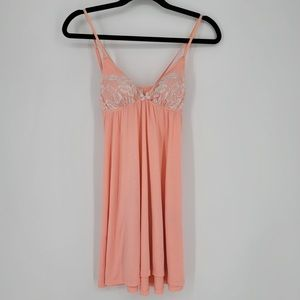 Victoria's Secret Pink Lace Nightie Babydoll Sz XS